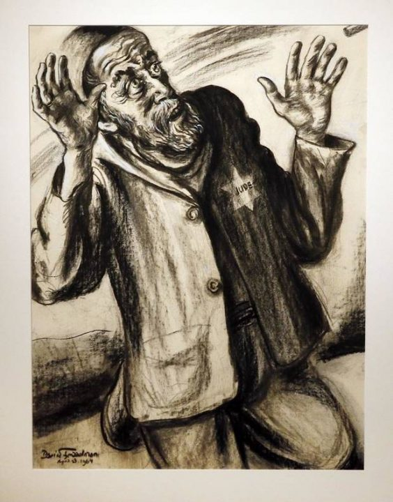 """""""A Few Seconds before Execution"""" from the series """"Because They Were Jews!"""" is on display in """"Testimony: The Life and Work of David Friedman,"""" an exhibit of work by the late Jewish artist, who was a Holocaust survivor, at the University of Oklahoma"""