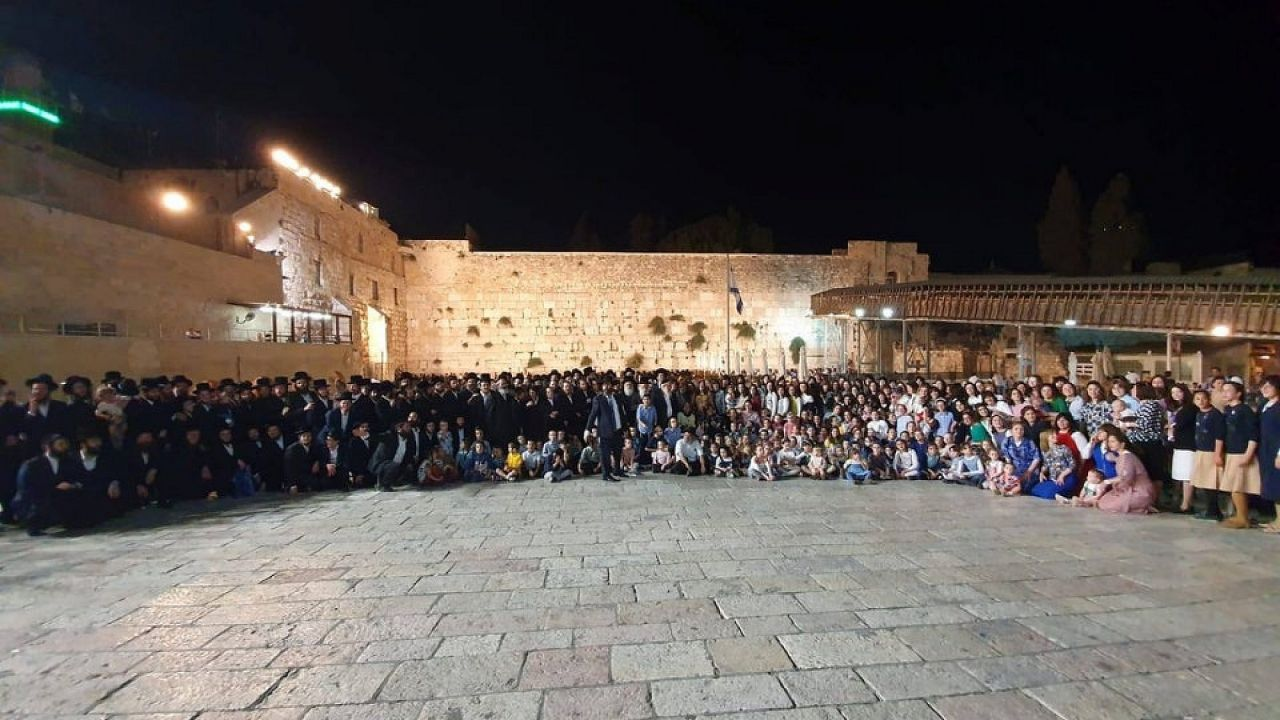 Image result for 104-year-old matriarch celebrates birthday at Kotel with 400 descendants